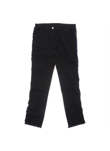 Panço Kız Çocuk Denim Pantolon 18221007100 Siyah